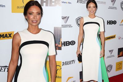 Erica Packer wore white on the night in the form of a Josh Goot number.