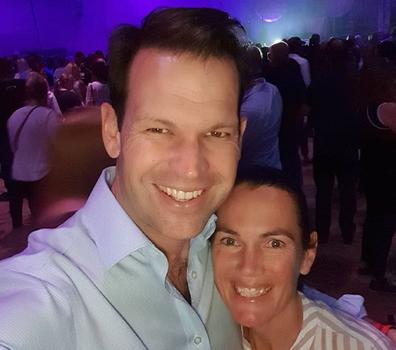 Matt Canavan with his wife Andrea.