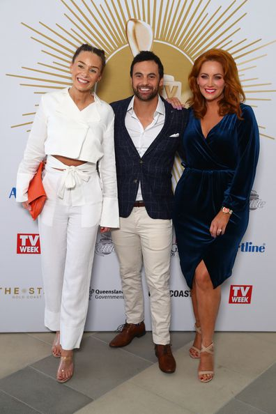 Heidi, Cam and Jules pose during the 2019 TV WEEK Logie Awards Nominations Party