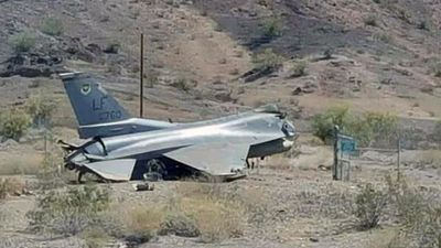 Jet fighter crashes after missing airport runway
