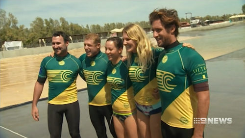 The Australian team of surfers.