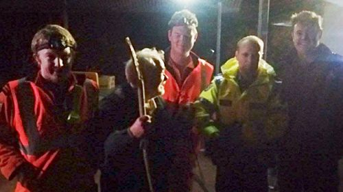 An elderly man was found after eight and a half hours in freezing conditions on one of WA's highest peaks.