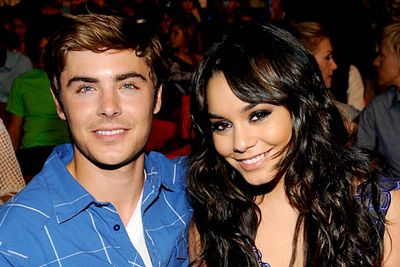 <B>Where they met:</B> The made-for-TV musical <I>High School Musical</I>. He played Troy Bolton, the singing-and-dancing basketball captain. She played the intensely academic yet pretty Gabriella Montez.<br/><br/><B>Did love blossom or bomb?</B> Bombed, eventually. Despite a few hiccups involving nude photos of Miss Hudgens and persistent rumours surrounding Efron's sexuality, these two went strong after filming <i>High School Musical</i> and its two sequels. They lasted four years before they split in December '10.