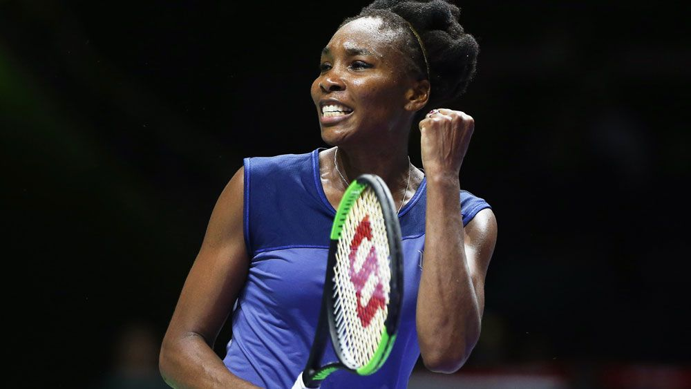 Venus Williams wins three hour marathon match against Jelena Ostapenko at WTA FInals in Singapore