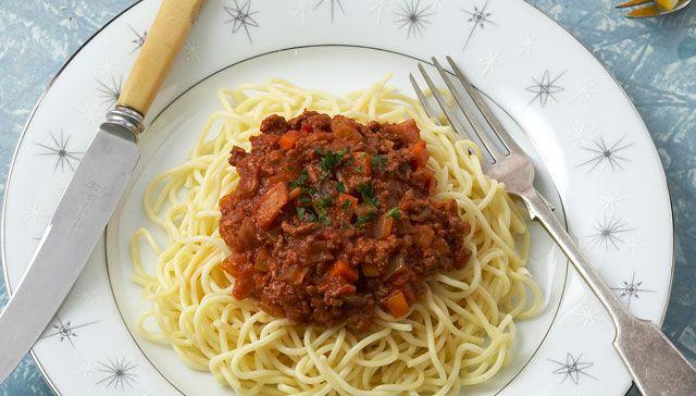 1960s recipe: Spaghetti bolognese