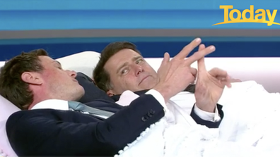 Stefanovic jumped into bed with Dr Nick Fuller to demonstrate the importance of a good night's sleep.