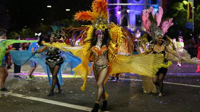 Feathers fly at the Mardi Gras