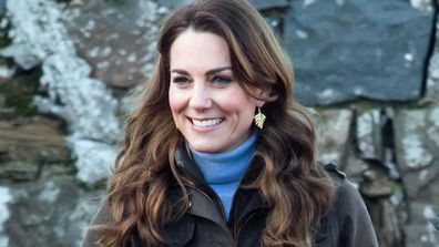 Catherine, Duchess of Cambridge visits The Ark Open Farm on February 12, 2020 in Newtownards, Northern Ireland. This visit is part of her Early Years Foundation Survey