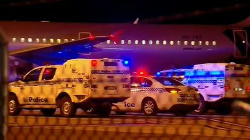 Emergency crews met the aircraft on arrival. (9NEWS)