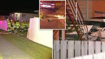 Teens flee scene of horror crash as car ploughs into home