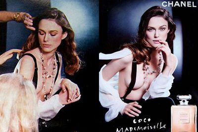 ...and again in this ad for Chanel. That's enough to give any girl a complex!