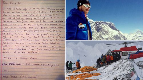 'If you don't return, we'll be heartbroken': Google executive was carrying letters from loved ones when he died in Mt Everest avalanche