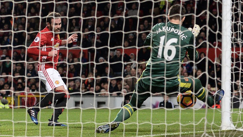 Hull City's goalkeeper Eldin Jakupovic made a couple of crucial saves against Manchester United. (AFP)