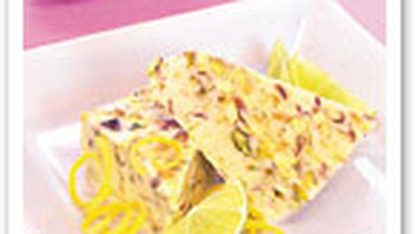 Citrus and pistachio ice-cream
