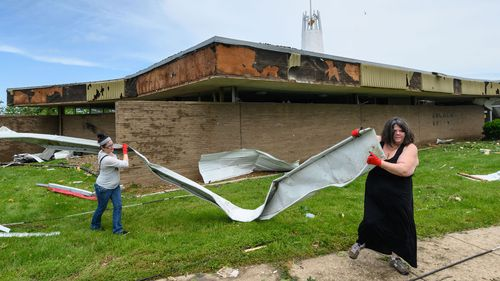 A tornado smashed into the Missouri capital as people slept on Wednesday night, ripping buildings apart.