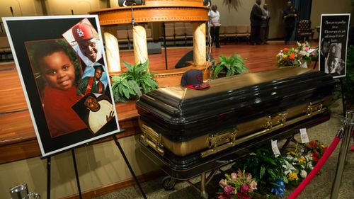 Mourners have gathered to farewell slain Ferguson teen Michael Brown. (Getty)