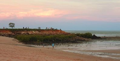 Viewing point for Broome's Staircase to the Moon lunar phenomenon