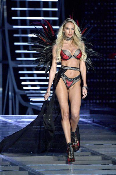 Candice Swanepoelat the Victoria's Secret 2017 runway show in Shanghai.
