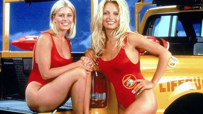 Pamela Anderson and Nicole Eggert on Baywatch