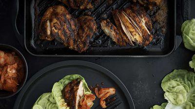 "Recipe: <a href=""http://kitchen.nine.com.au/2016/11/11/10/05/neil-perrys-korean-spice-rubbed-chicken"" target=""_top"">Neil Perry's Korean spice-rubbed chicken</a>"