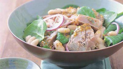 "Recipe:&nbsp;<a href=""http://kitchen.nine.com.au/2016/05/13/12/32/grilled-tuna-and-white-bean-salad"" target=""_top"" draggable=""false"">Grilled tuna and white bean salad</a>"