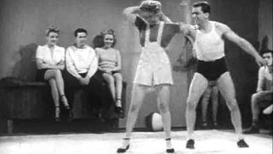 Mary Parker demonstrates 'Judo Jymnastics'