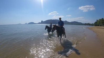 Horseback riding at AoNamao Beach