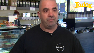 Cafe owner Adrian Rigotto teared up as he described what the last nine months have been like.