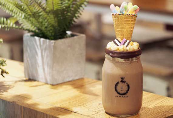 The Vogue Café's Nutella milkshake