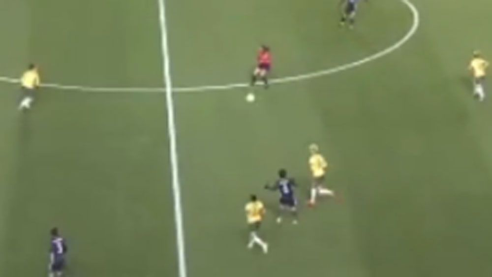 Matildas get a helping hand from referee