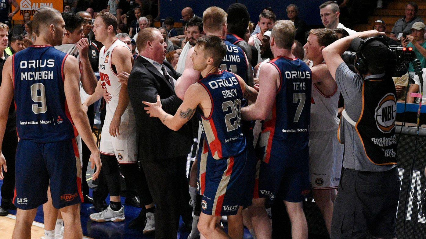 NBL: Adelaide 36ers smash Illawarra Hawks in heated encounter