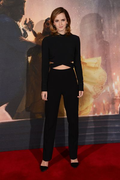Emma Watson in 3.1 Phillip Lim at the photocall for <em>Beauty And The Beast</em>&nbsp;in London, February, 2017
