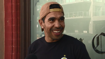 Eddie Betts seemed pretty chuffed with the results of the bet when media spoke with him outside the tattoo parlour in Adelaide.