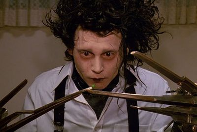 In arguably one of Tim Burton's best films to date, Johnny Depp is Edward Scissorhands, a Frankenstein-esque creation with scissors instead of hands.<br/><br/>This is quintessential quirky Johnny Depp at his best.<br/><br/><b>Weird factor: 10/10</b>