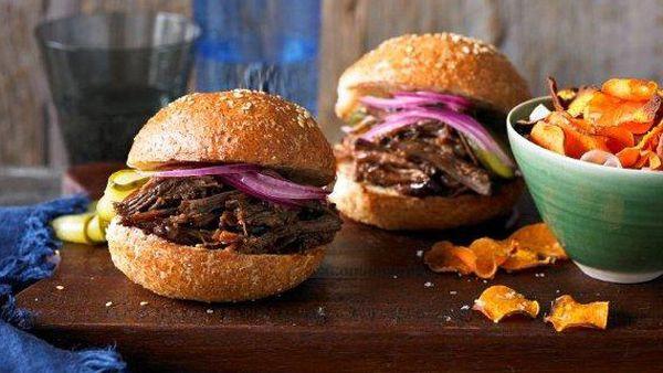 Texas chopped brisket burger