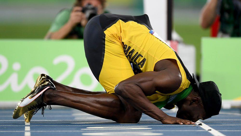 Bolt says goodbye with a kiss