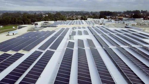 The panels have already slashed Stockland's electricity bills by up to 25 percent. (9NEWS)