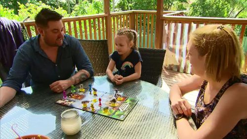 The Newmans were hoping to take their daughter Zoey overseas to visit her grandparents.