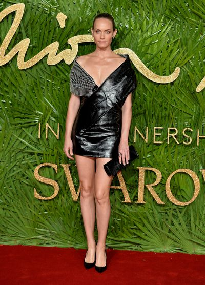 Amber Valetta in Saint Laurent at the Fashion Awards, London.