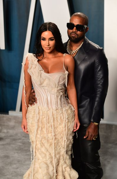Kim Kardashian, Kanye West relationship timeline, Vanity Fair Oscars party, 2020