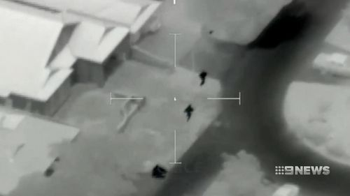The police helicopter tracked the boys to Palmyra. (9NEWS)