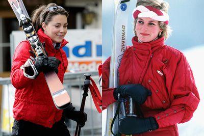 Kate even wore the same ski suit as Princess Di!