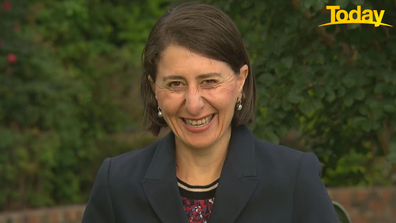 The NSW Premier was amused by the 'cheeky' question.