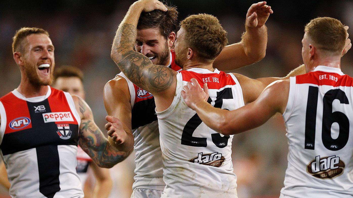 St Kilda leap to the top of the ladder with comprehensive win over Melbourne