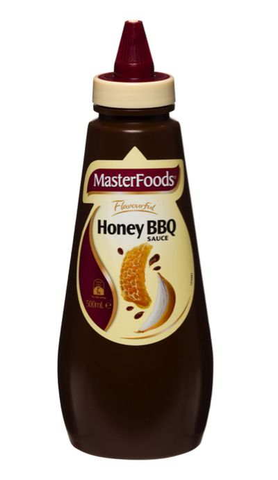 <strong>Masterfoods Honey BBQ Sauce (41.1 grams of sugar per 100ml)</strong>