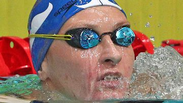 Veronika Andrusenko is seen during the ladie's 200m freestyle final at the 2021 Russian National Swimming Championship