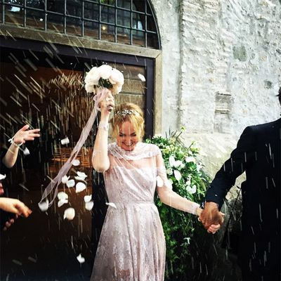 <strong>Who:</strong>&nbsp;Former Gucci designer Frida Giannini married former Gucci CEO Patrizio di Marco<br /><strong>Dress: </strong>Valentino Couture<br /><strong>Where:</strong>&nbsp;Rome