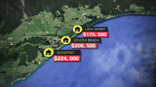 These are the average prices more than 200km from Melbourne. (9NEWS)