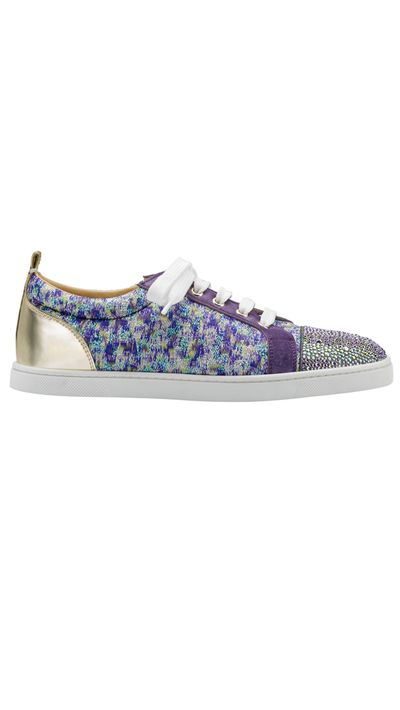 """<a href=""""www.christianlouboutin.com/"""" target=""""_blank"""">Sneakers, $1875, Christian Louboutin</a>"""