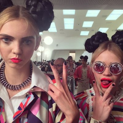 <p>Molly Bair and Stella Lucia.</p>